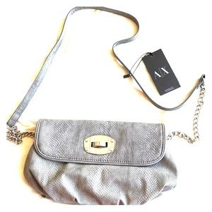 NWT Gray snakeskin print bag from A|X